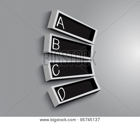 Empty shelves black and white on the wooden wall modern design vector background