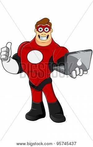 Superhero In Red Character