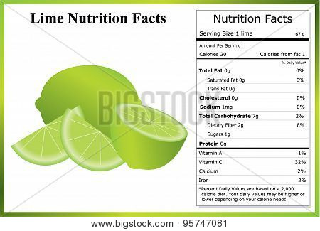 Lime Nutrition Facts