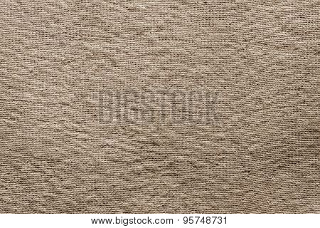 Textured Background Of Dark Sepia Rough Fabric