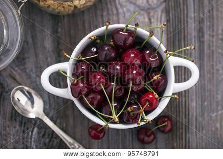 Delicious Strawberry And Cherries Dessert