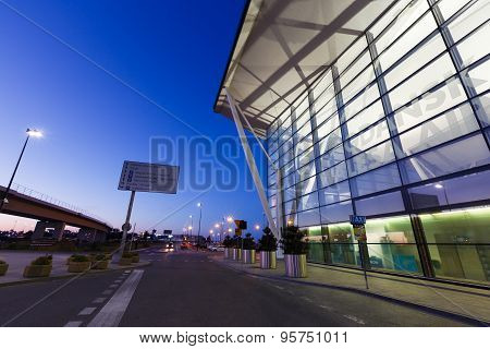 Modern Building Of Lech Valesa Airport In Gdansk