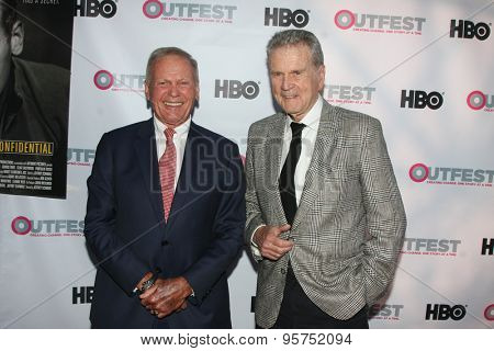 LOS ANGELES - JUL 11:  Tab Hunter, Don Murray at the