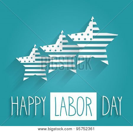 Happy Labor Day. Hand drawn letters