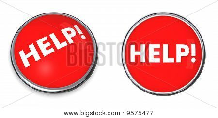 Red Round Help Button