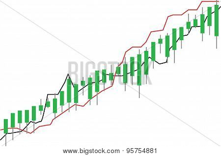 stock market chart , illustration