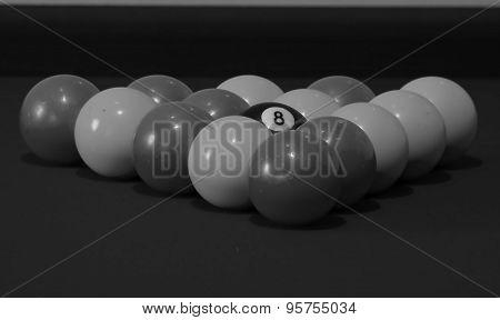 playing snooker balls