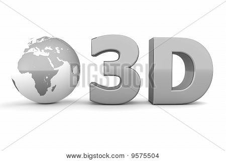 Global 3D - Metallic Grey