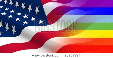 The concept of positive attitude of  the United States for LGBT community.