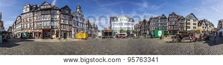 people enjoy the beautiful medieval market place in Butzbach