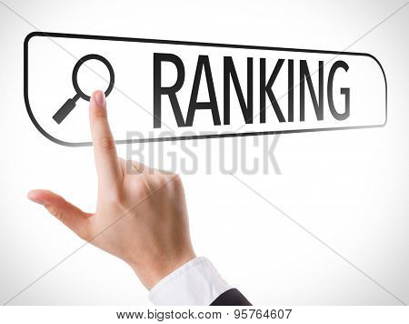 Ranking written in search bar on virtual screen