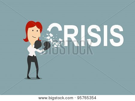 Successful businesswoman beats the crisis