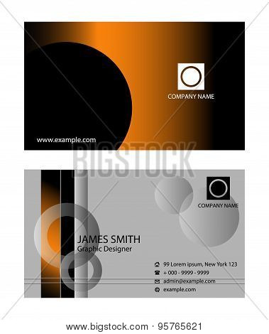Vector Business Card. Templates for Business Card