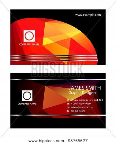 Business cards. Vector Business Card