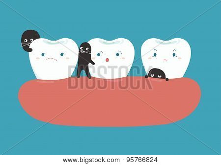 Bacteria breaking teeth