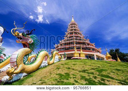 Wat Hyua Pla Kang, Chinese temple in Chiang Rai Thailand