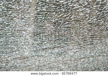 Pattern Of A Broken Glass Window