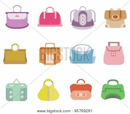 fashion bag icons