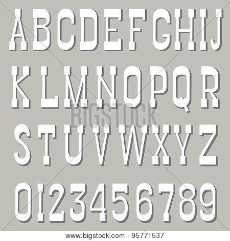 Serif font white