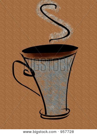Kaffee-Haferl farbig
