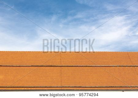 Traditional roof with new tiles