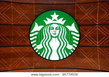 A new branch of Starbucks coffee available in Bangkok, Thailand.