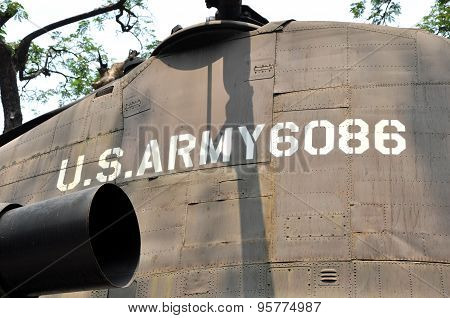 Us Military Helicopter Exposed In The War Remnants Museum, Saigon, Vietnam