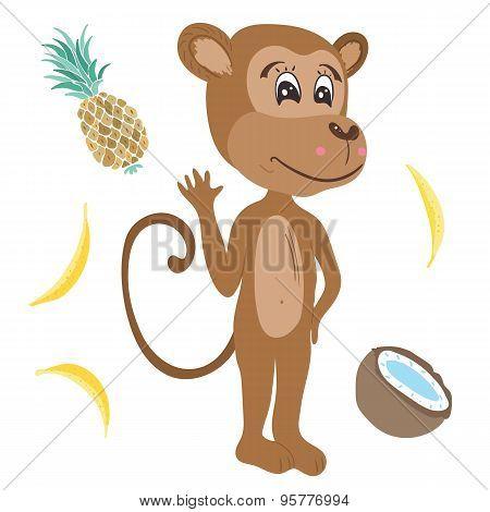 Vector Monkey Illustration