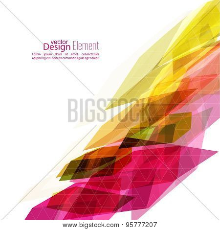 Angular geometric color shape