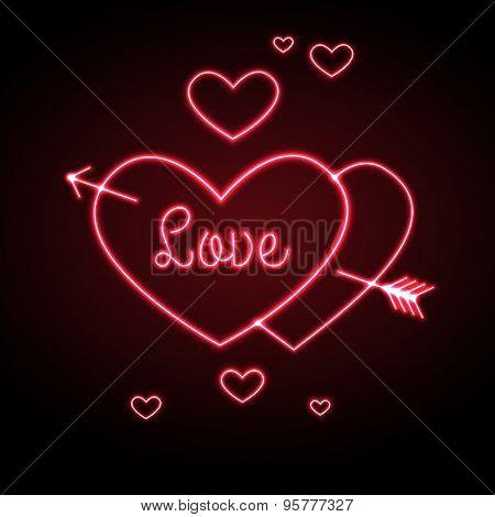Neon Sign. Love Heart