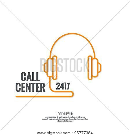Abstract background with telephone and handset.