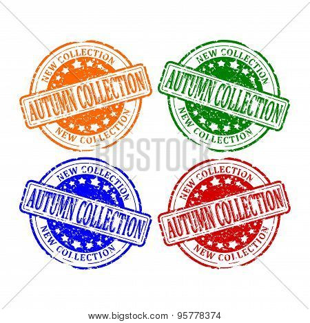 Damaged Colorful Stamps - Autumn Collection