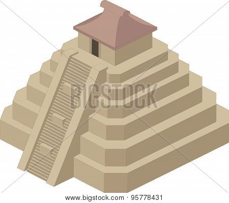 Vector illustration of a pyramid