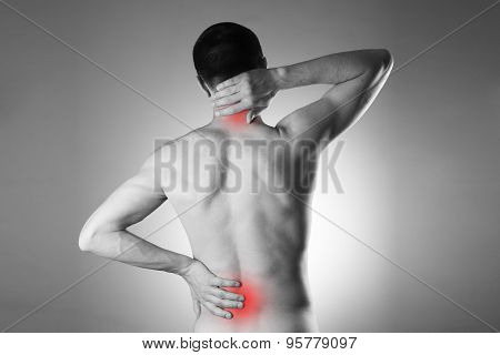 Man With Backache. Pain In The Man's Body