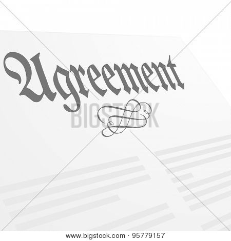 detailed illustration of an Agreement letter, eps10 vector