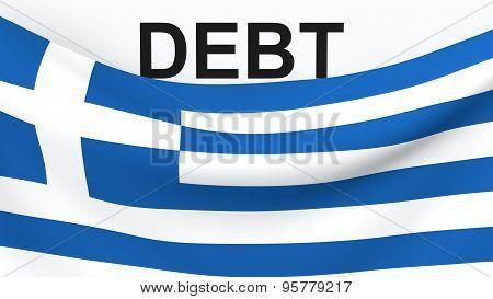 Greece debit crisis concept