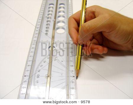 Architekt/Designer eine gerade Linie zeichnen