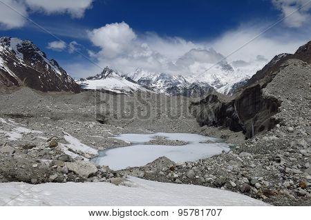 Big Hole On The Ngozumba Glacier