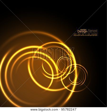 Abstract background with luminous swirling backdrop.