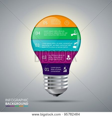Vector lightbulb for infographic.