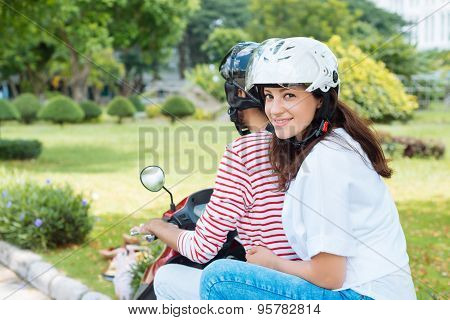 Riding Moped