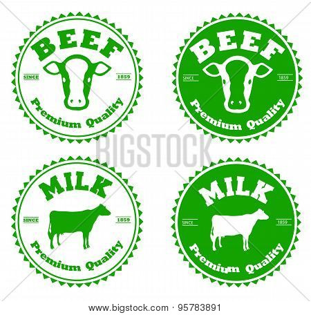 Label beef and milk