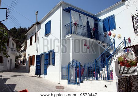 greek village house