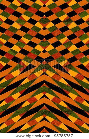 Black And Orange Striped Pattern