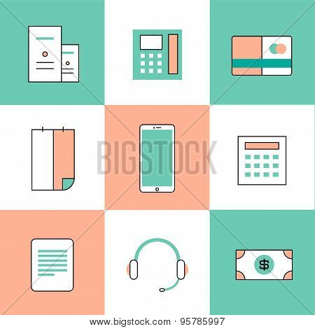 Business vector logo icons set. Business, bank and finance symbols. Stock design elements.