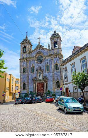 PORTO, PORTUGAL - JUNE, 12: Massarelos church at day time on June 12, 2015 in Porto, Portugal