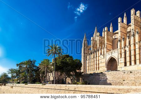 Gothic-styled Palma Cathedral La Seu