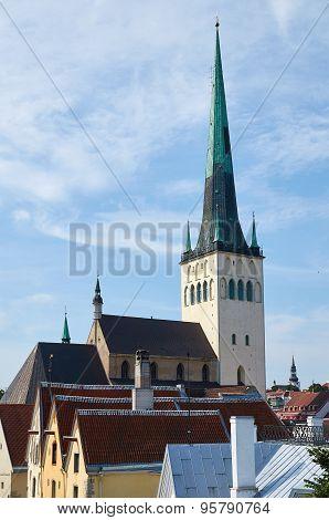 St. Olaf's Church In Tallinn, Estonia