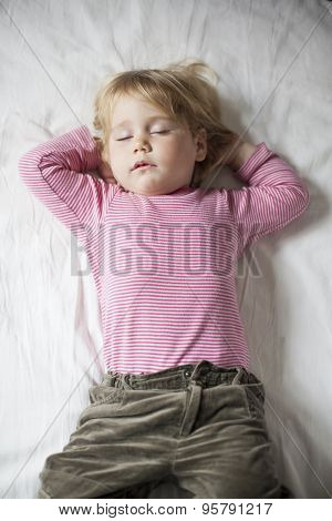 Blonde Lovely Baby Sleeping