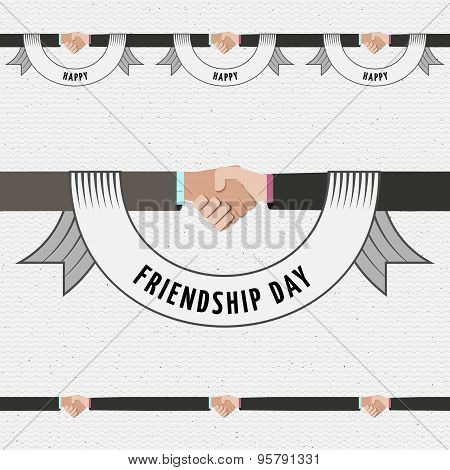 Friendship day borders badges logos and labels for any use